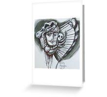 Skull Harp Greeting Card