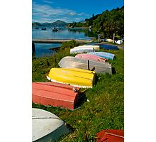 Tenders at Careys Bay - New Zealand Photographic Print