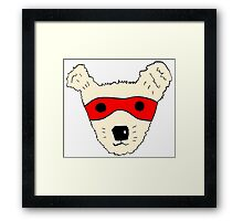 Superhero dog Framed Print