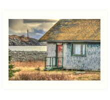 Schoolhouse and Lighthouse Art Print