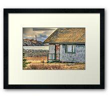 Schoolhouse and Lighthouse Framed Print