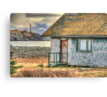 Schoolhouse and Lighthouse Canvas Print