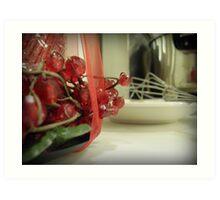 Kitchen at Christmas Art Print