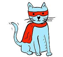 Superhero cat Photographic Print