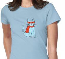 Superhero cat Womens Fitted T-Shirt