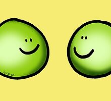 2 green peas friends by CuteCartoon