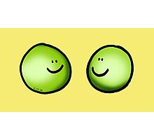 2 green peas friends Photographic Print