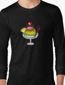 strawberry, vanilla, mint ice cream Long Sleeve T-Shirt