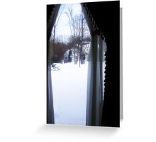 Oh, the weather outside is frightful... Greeting Card