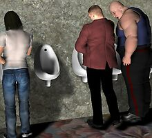 Urinal Etiquette by Mike Rowley