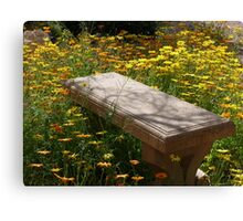 Come Sit Among the Daisies Canvas Print