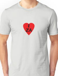 I Love South Africa - Country Code ZA T-Shirt & Sticker Unisex T-Shirt