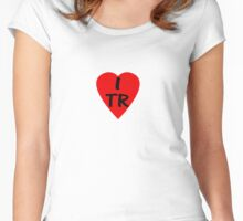 I Love Turkey - Country Code TR T-Shirt & Sticker Women's Fitted Scoop T-Shirt