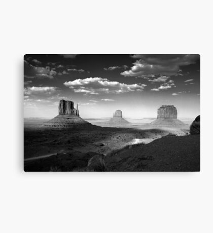 Monument Valley in Black & White  Canvas Print