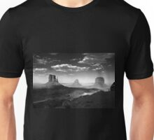 Monument Valley in Black & White  Unisex T-Shirt