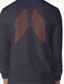 Leather Owl Wings  Long Sleeve T-Shirt