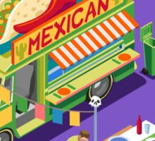 Mexican Taco Food Truck Sticker