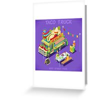 Mexican Taco Food Truck Greeting Card