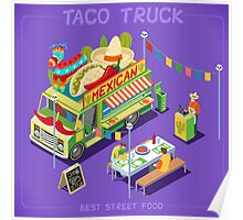 Mexican Taco Food Truck Poster