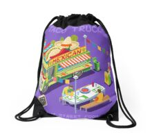 Mexican Taco Food Truck Drawstring Bag