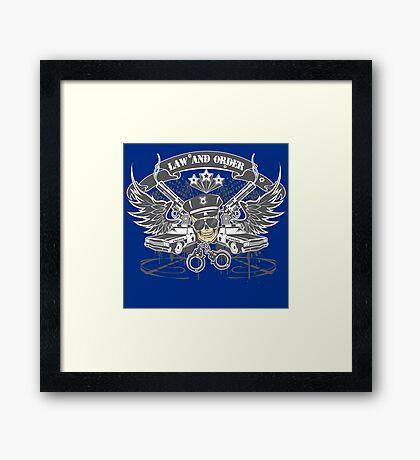 Law & Order Framed Print