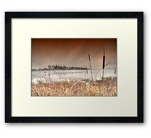 ..mantled in mist... Framed Print