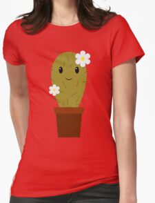 Cute baby cactus Womens Fitted T-Shirt