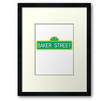 Sherlock 221B Baker Street Framed Print