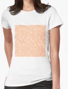 Peach Swirl Pattern Womens Fitted T-Shirt