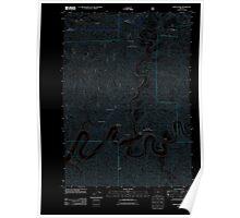 USGS Topo Map Oregon North Fork 20110811 TM Inverted Poster