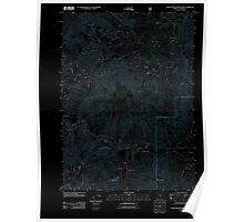 USGS Topo Map Oregon Eight Dollar Mountain 20110713 TM Inverted Poster