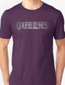 Queens New York Typography Text Unisex T-Shirt