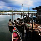 Thailand - Ko Panyi - Floating Fishing Village by Chris Bishop