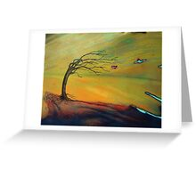 the storm - landscape - natural world gallery Greeting Card