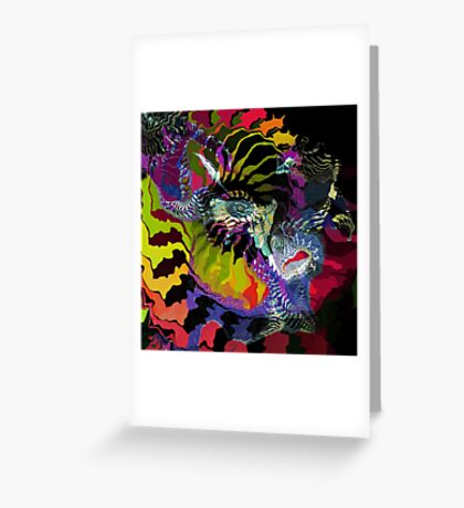 One Fish On New Year Greeting Card