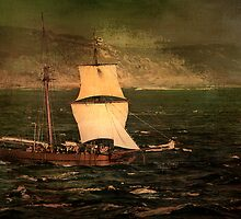 Pirate Ship In The Heads - Queenscliff by Graeme Buckland