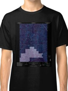 USGS Topo Map Oregon Groundhog Mountain 280110 1997 24000 Inverted Classic T-Shirt