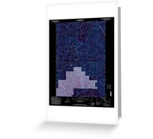 USGS Topo Map Oregon Groundhog Mountain 280110 1997 24000 Inverted Greeting Card
