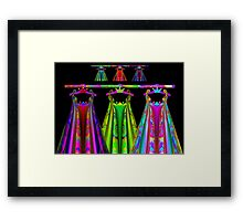 Wardrobe of The RainbowQueen and Her Little Princess Framed Print