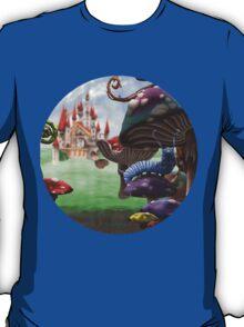 Caterpillar in the Wonderland Toadstool Forest T-Shirt