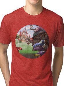 Caterpillar in the Wonderland Toadstool Forest Tri-blend T-Shirt