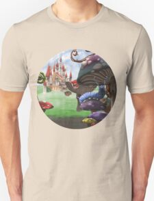 Caterpillar in the Wonderland Toadstool Forest T-Shirt
