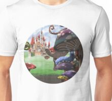 Caterpillar in the Wonderland Toadstool Forest Unisex T-Shirt
