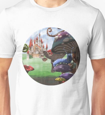 Caterpillar in the Wonderland Toadstool Forest Unisex T-Shirt