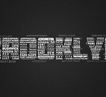 Brooklyn New York Typography Word by icoNYC
