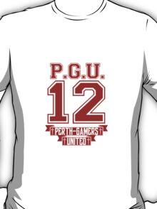 Perth (Grammatically Correct) Gamers United Varsity Red T-Shirt