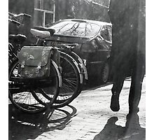 Sunny Shadows in the Street Photographic Print