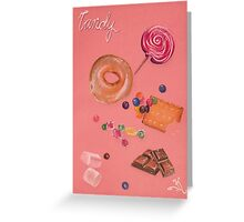 Pink Candy Greeting Card