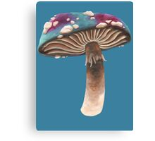 Purple and Blue Spotted Toadstool Canvas Print