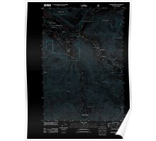 USGS Topo Map Oregon Rhododendron 20110809 TM Inverted Poster